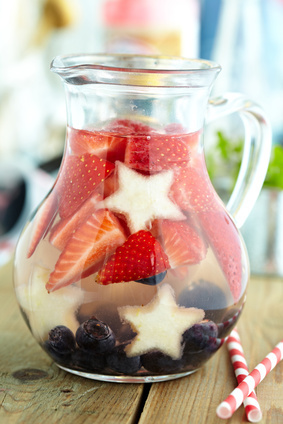Red, white and blue lemonade